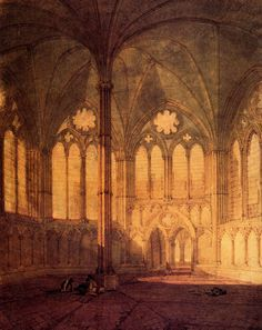 The Chapter House, Salisbury Chathedral, Joseph Mallord William Turner. English (1775-1851)