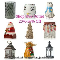 Pink Zebra Shop our outlet store & get up to 50% off shades, simmer pots & sprinkles. Great gift idea or perfect holiday edition to your home. Buy 1 base & glass & switch shades throughout the seasons. We also offer many different colored glass.  www.pinkzebrahome.com/JensPinkyZ