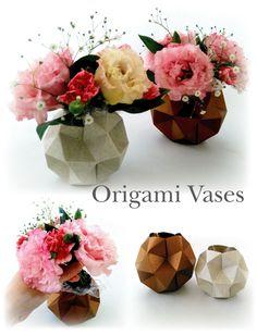 折り紙の花瓶