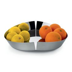 Alessi - Broken Bowl Fruit Bowl - Stainless Steel