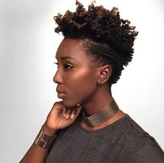 Achieve a Twist Out & Flat Twist on a Tapered Cut for short natural styles. This look also works perfectly on nearly all lengths of natural hair.