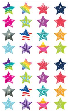 Fun stickers for any and every occasion! This package contains three inch sheets of stickers. Available in various designs: each sold separately. Size and number of stickers per package varies by design. Made in USA. Online Craft Store, Craft Stores, Patriotic Posters, Kids Rewards, Homemade Stickers, Sparkling Stars, Twinkle Star, Star Stickers, Baby Shower
