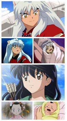 Inuyasha and Kagome as chitlens.