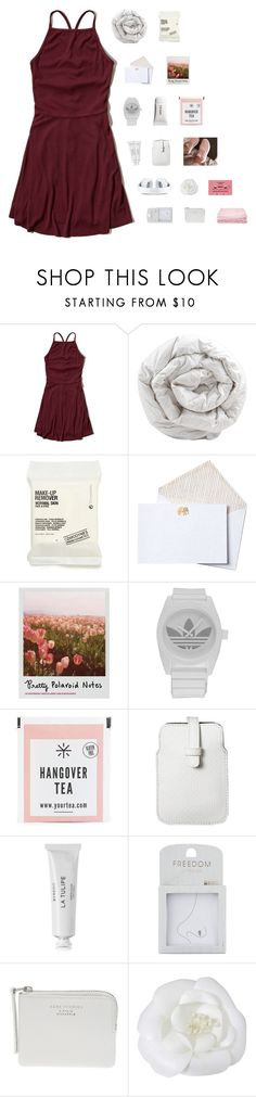 """""""  been about a year since i heard your voice   Rtd"""" by yazbo ❤ liked on Polyvore featuring Hollister Co., Brinkhaus, Comodynes, John Robshaw, Polaroid, adidas, Mossimo, Byredo, Topshop and The Webster"""