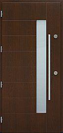 Drzwi zewnętrzne nowoczesne model 478,3 w kolorze orzech ciemny