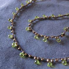 My favorite jewelry at Pandora - Fine Jewelry Ideas Crochet Necklace Pattern, Crochet Beaded Necklace, Crochet Bracelet, Bead Crochet, Beaded Jewelry, Unique Jewelry, Jewelry Design, Peyote Bracelet, Diy Schmuck