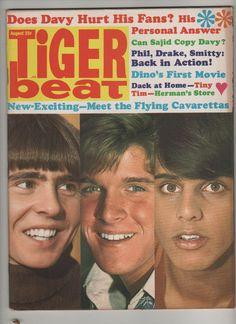 Tiger Beat Magazine August 1968