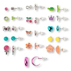 Girls Mixed Shape Earrings 15-Pack - Multi - The Children's Place