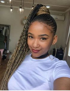 23 Renewed Goddess Braids Ponytail Hairstyles 23 Renewed Goddess Braids Ponytail HairstylesBest 23 ideas of goddess braids ponytail hairstyles for African American women. This one is a r # Braids afro ponytail # Braids ponytail african american Box Braids Hairstyles, Braided Ponytail Hairstyles, Braided Hairstyles For Black Women, My Hairstyle, African Hairstyles, Girl Hairstyles, Goddess Hairstyles, Hairstyles 2016, Black Hairstyle