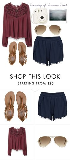 """""""Boardwalk-Emma// @emmaleeml"""" by the-southern-belles ❤ liked on Polyvore featuring Billabong, VILA, MANGO and Ray-Ban"""