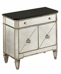 shop product marais mirrored furniture queen piece set bed mirrored console mirrored small chest