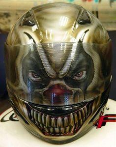 Custom Painted Evil Clown Helmet