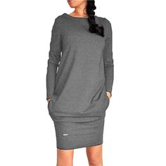 >> Click to Buy << Fashion Cosy Women Long Sleeve Warm Sweater Dress Short Mini Solid Color Dresses #Affiliate