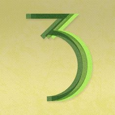 3 is a magic number! #36daysoftype #36days_3 #3isamagicnumber #vincentmrivera