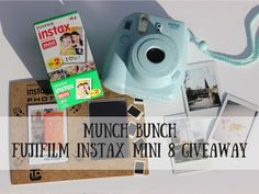 Giveaway to win a Fujifilm Insta Mini 8 Instanr Camera running until the 1st May 2016
