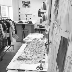 Fashion Design Studio behind the scenes; fashion sketching & pattern cutting; creative process // Brooks Brothers