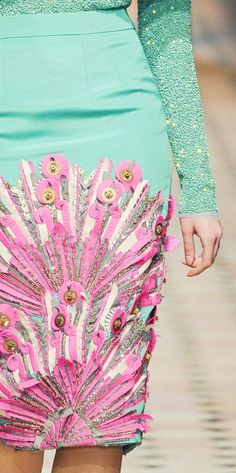 Manish Arora. I like how using zips and buttons in a different way have created a very interesting pattern.