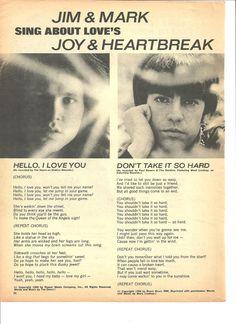 Jim Morrison The Doors Full Page Vintage clipping Mark Lindsay   eBay