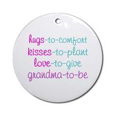 grandma to be Ornament (Round) by zoeysattic
