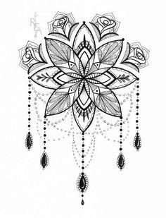 Tatto Ideas 2017 – Mandala Illustration – Tattoo Art – Pen and Ink Drawing – Giclee Print Tatto Ideas & Trends 2017 - DISCOVER Illustration de Mandala - Tattoo Art - stylo et encre dessin - 5 x 7 giclée Print Discovred by : Vanessa Tiffon Tattoo Flash, Lotusblume Tattoo, Tattoo Dotwork, Piercing Tattoo, Piercings, Underboob Tattoo, Tattoo Thigh, Lotus Tattoo, Chest Tattoo