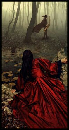 Once Upon a Time snow white and the huntsman or red riding hood and the woodman whatever your romantic gothic or fairytale valentines day fantasy this dreamy walk into the land of grimm could be the bedroom art for you Fantasy Magic, Fantasy World, Fantasy Art, Story Inspiration, Character Inspiration, Foto Fashion, Art Manga, Grimm, Red Riding Hood