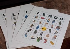 Lego bingo. Nice idea too!