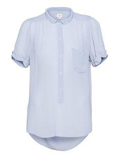 silk blouse in miste