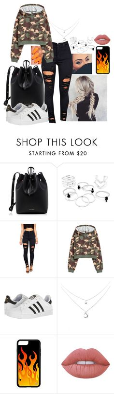 """""""Untitled #718"""" by missvalerieg ❤ liked on Polyvore featuring Mansur Gavriel, adidas and Lime Crime"""