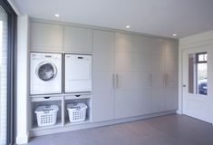 Browse laundry room ideas and decor inspiration. Discover designs for custom laundry rooms and closets, including utility room organization and storage solutions. Laundry Room Cabinets, Laundry Room Organization, Laundry Room Design, Garage Cupboards, Garage Shelving, Diy Cabinets, Laundry Cupboard, Boot Room Utility, Small Utility Room