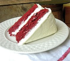 Red velvet cake!!  This is gluten free from King Arthur Flour in Vermont.