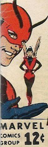Vintage Marvel corner box art - Avengers (Giant-Man and the Wasp)