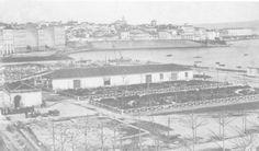 Pese a que la ciudad era un puerto comercial importante,que tenía desde el s XVIII una patente de libre comercio expedida por la Corona,tardó en conseguir un muelle y durante buena parte de XIX las cargas y descargas de los barcos se hacían mediante chalupas