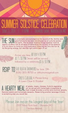 Summer Solstice Party Invitations - ThirtyThreeSix                                                                                                                                                                                 More