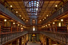 The State Library in Adelaide (Australia) has an older section called the Mortlock Wing which was opened in 1884.