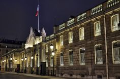 Elysee Palace at Night, Anne Hennessey. The Élysée Palace is the official residence of the President of the French Republic, containing his office, and is where the Council of Ministers meets. Address: 55 Rue du Faubourg Saint-Honoré, 75008 Paris, France
