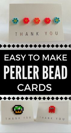 How to make Perler Bead Cards