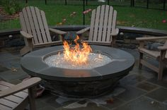 Image result for backyards with gas firepits