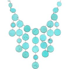 Michael Kors Status Links Slice Bib Necklace ($250) ❤ liked on Polyvore featuring jewelry, necklaces, accessories, colar, collares, turquoise necklace, adjustable necklace, chain bib necklace, pendant necklace and turquoise jewelry