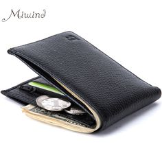 2016 미니멀 빈티지 디자이너 정품 가죽 남성 슬림 얇은 미니 지갑 남성 작은 지갑 머니 클립 신용 카드 달러 가격