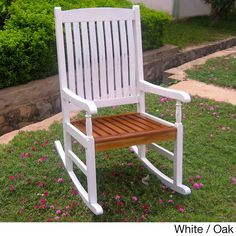 International Caravan Rocking Chair with UV Paint Antiqued Finish | Overstock.com Shopping - Big Discounts on International Caravan Sofas, C...
