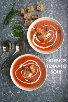 Sidekick Tomato Soup from Cowgirl Creamery- check out the recipe on Shutterbean.com!
