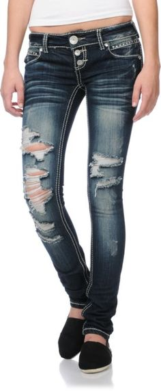8940d19e4fd Almost Famous Monica Girls Skinny Jeans Zumiez