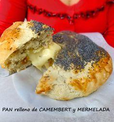 cocinaros: Pan Relleno de Camembert y Mermelada