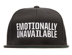 Emotionally Unavailable Snapback Cap by SSUR