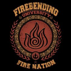 Firebending University T-Shirt $12 Avatar: The Last Airbender tee at Once Upon a Tee!