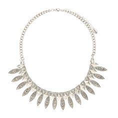 Aztec Silver Bib Necklace