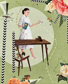 """Snow White"" by Heather Landis (from http://lamonomagazine.com/collage-heather-landis-hacer-viernes/#.U6lHmvmSxRw)"