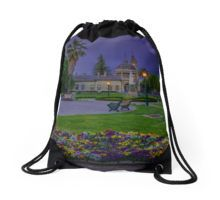 Springtime at the Soldiers Memorial and Old Town Hall Drawstring Bag