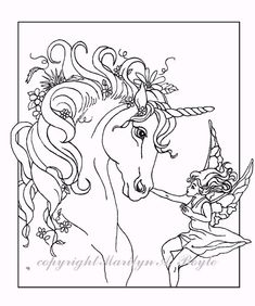 Unicorn And Fairy Unicorns To Color Coloring Pages Unicorn