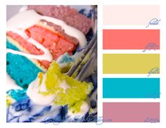 Holi Celebration {Color Palette Monday} ~ cake inspiration!